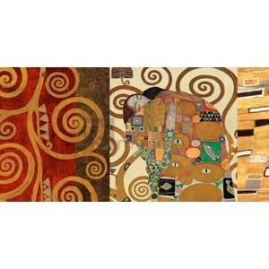 Gustav Klimt - Klimt Patterns - The Embrace (Gold)