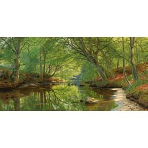 Peder Mork Monsted - A stream through the woods