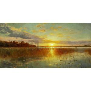 Peder Mork Monsted - Sunset over a Danish Fiord
