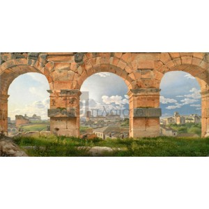 Christoffer Wilhelm Eckersberg - A View through The Arches of the Colosseum, Rome