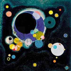 Wassily Kandinsky - Sketch for Several Circles