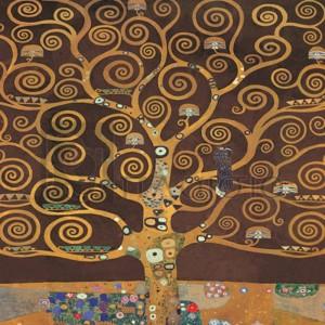 Gustav Klimt - Tree of Life (Brown Variation) II