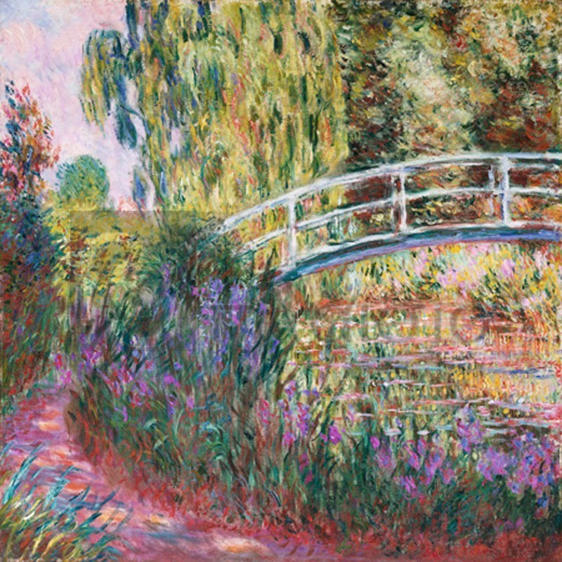Claude Monet - The Japanese Bridge, Pond with Water Lillies