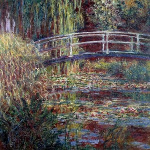 Claude Monet - Le bassin aux nympheas, harmonie rose
