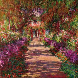 Claude Monet - Path in Monet's Garden, Giverny
