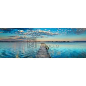 Frank Krahmer - Boat ramp and filigree clouds, Bavaria, Germany