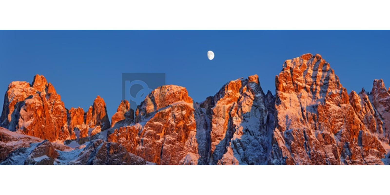 Frank Krahmer - Pale di San Martino and moon, Italy