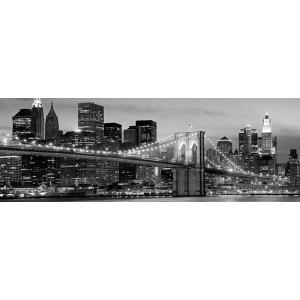Anonymous - Brooklyn Bridge at Night (detail)