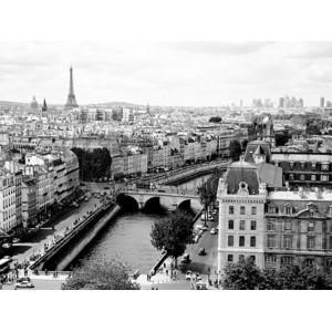 Vadim Ratsenskiy - View of Paris and Seine river