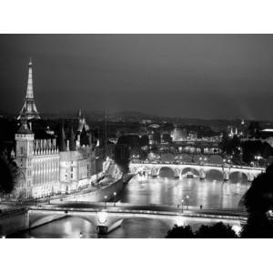 Michel Setboun - Paris and Seine river at night