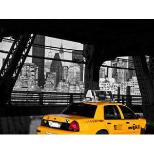 Michel Setboun - Taxi on the Queensboro Bridge, NYC