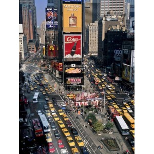 Michel Setboun - Traffic in Times Square, NYC