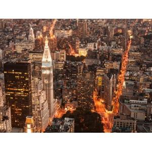 Michel Setboun - Aerial view of Manhattan with Flatiron Building, NYC
