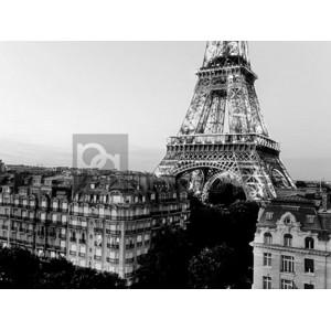 Michel Setboun - Eiffel tower and buildings, Paris