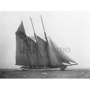 Edwin Levick - The Schooner Karina at Sail, 1919