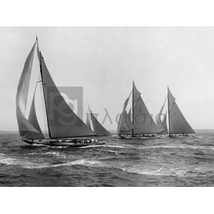 Edwin Levick - Sloops at Sail, 1915 (detail)