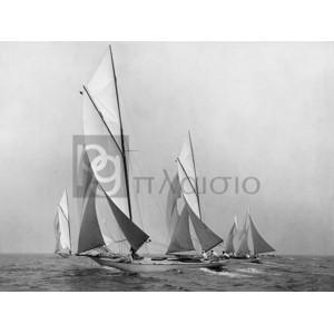 Edwin Levick - Saliboats Sailing Downwind, ca. 1900-1920