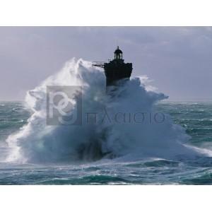 Jean Guichard - Phare du Four lors d'une tempète