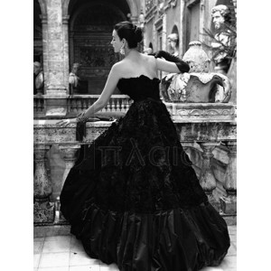 Genevieve Naylor - Black Evening Dress, Roma 1952 (detail)