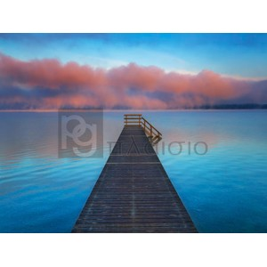 Frank Krahmer - Boat ramp and fog bench, Bavaria, Germany