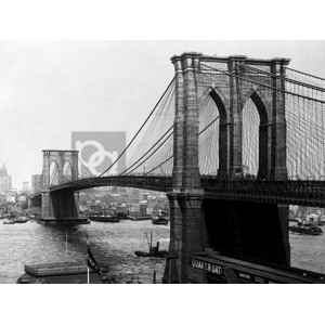 A. Loeffler - Brooklyn Bridge, New York, 1900
