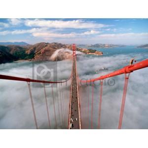 Anonymous - Painter on the Golden Gate Bridge, San Francisco