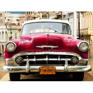 Gasoline Images - Classic American car in Habana, Cuba