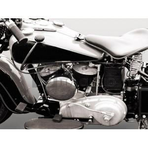 Gasoline Images - Vintage American V-Twin engine (detail)