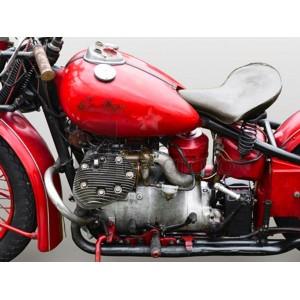 Gasoline Images - Vintage American motorbike (detail)