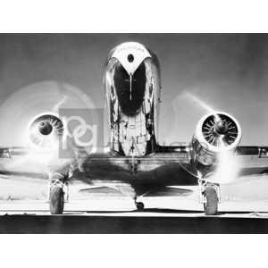 Anonymous - Front View of Passenger Airplane