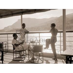 Charles Delius - Jeunes gens sur le pont d'un bateau dans la baie de Monte Carlo, 1920