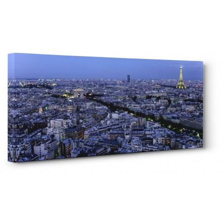 Michel Setboun - Aerial view of Paris at dusk