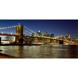 Michel Setboun - Panoramic view of Lower Manhattan at dusk, NYC