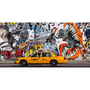 Michel Setboun - Taxi and mural painting in Soho, NYC