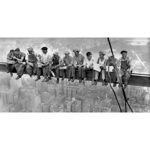 Charles C. Ebbets - New York Construction Workers Lunching on a Crossbeam, 1932 (detail)