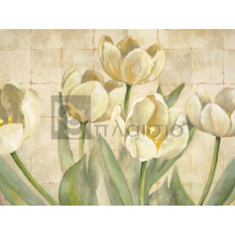 Lauren Mc Kee - White Tulips on Ivory