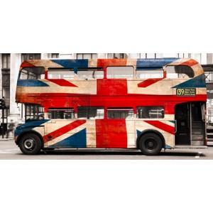 Pangea Images - Union jack double-decker bus, London