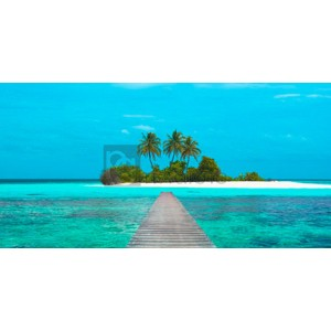 Pangea Images - Jetty and Maldivian island