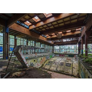 Richard Berenholtz - Abandoned Resort Pool, Upstate NY