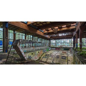 Richard Berenholtz - Abandoned Resort Pool, Upstate NY (detail)