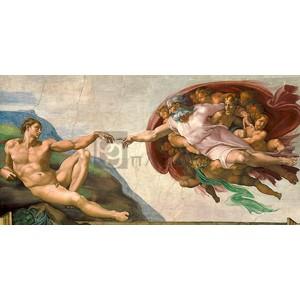 Michaelangelo Buonarroti - La creazione di Adamo (restored)