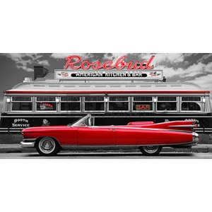 Gasoline Images - Vintage Beauty and Diner (Red)