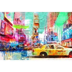 Eric Chestier - Taxis in Times Square 2.0