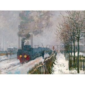 Claude Monet - Le train dans la neige