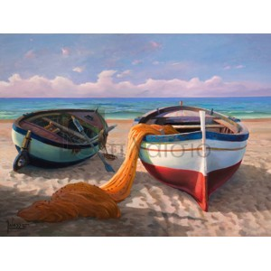 Adriano Galasso - Barche sulla spiaggia