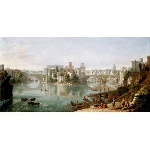 Gaspar Van Wittel - The Tiber in Rome