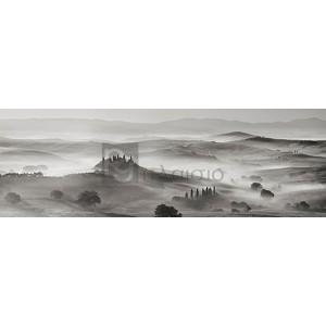 Frank Krahmer - Val d'Orcia panorama, Siena, Tuscany (BW)
