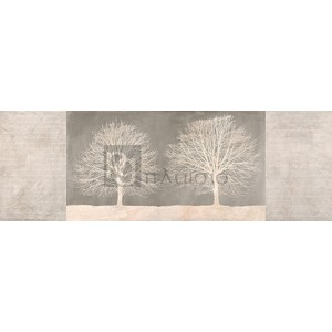 Alessio Aprile - Trees on Grey panel