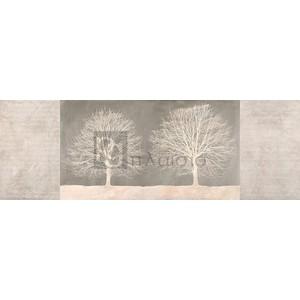Alessio Aprile - Trees on Grey panel