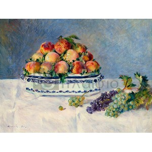 Renoir Pierre Auguste - Still Life with Peaches and Grapes